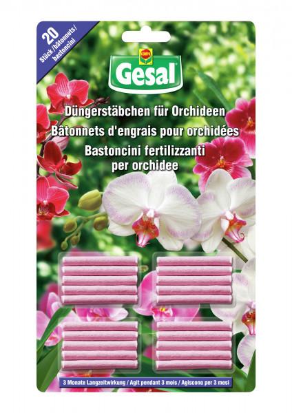 Gesal Düngerstäbchen für Orchideen 20 Stück