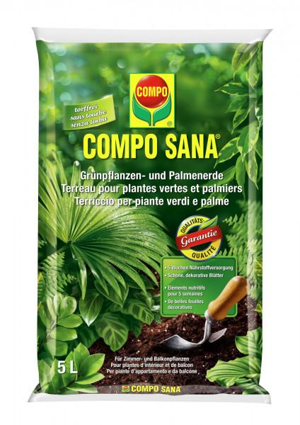 COMPO SANA Grünpflanzen- und Palmenerde - torffrei 5 l