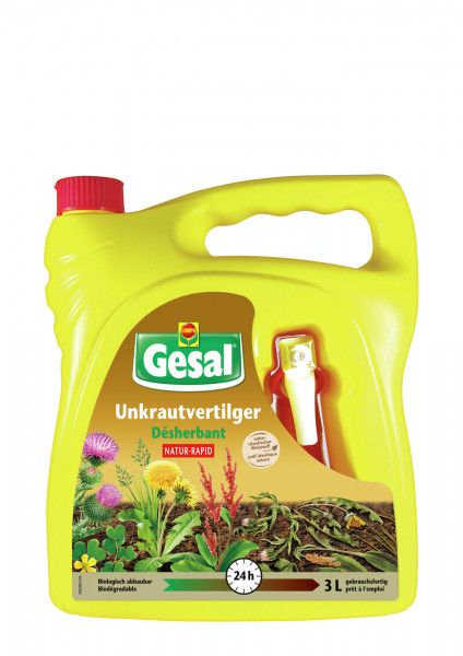 Gesal Unkrautvertilger NATUR-RAPID 3 l